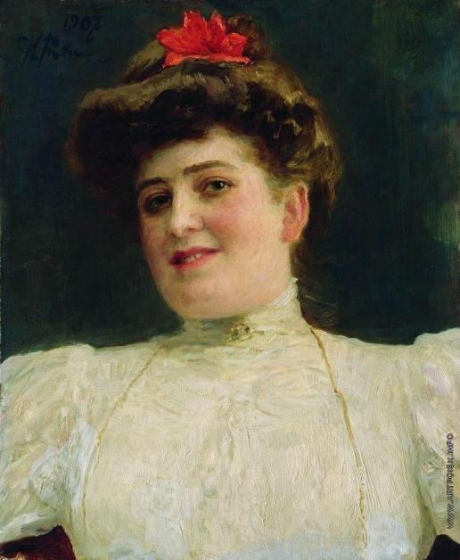 Репин И. Е. Женский портрет (Ольга Шоофс)