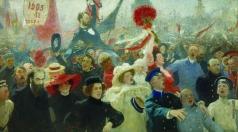 Репин И. Е. Манифестация. 17 октября 1905 года