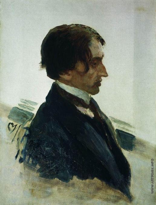 Репин И. Е. Портрет художника И.И. Бродского