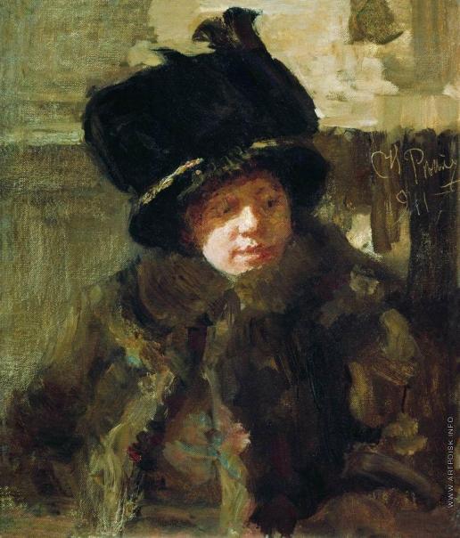 Репин И. Е. Портрет писательницы Наталии Борисовны Нордман-Северовой, жены художника