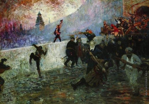 Репин И. Е. В осажденной Москве в 1812 году