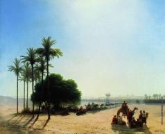 Айвазовский И. К. Караван в оазисе. Египет