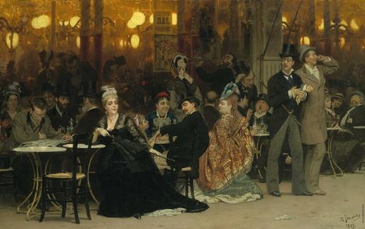 Репин И. Е. Парижское кафе