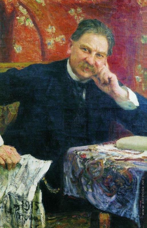 Репин И. Е. Портрет Я.М.Венгерова