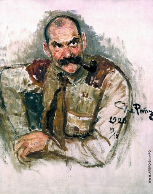 Репин И. Е. Портрет художника Галлен-Каллела
