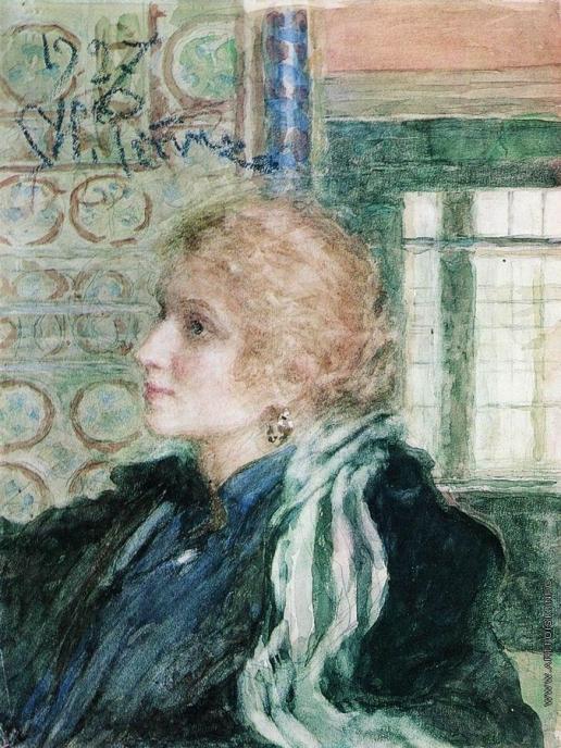 Репин И. Е. Портрет Марии Клопушиной
