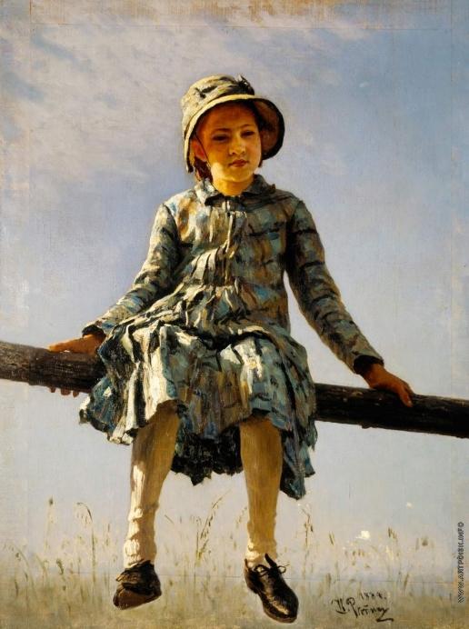 """Репин И. Е. """"Стрекоза"""". Портрет В.И.Репиной, дочери художника"""
