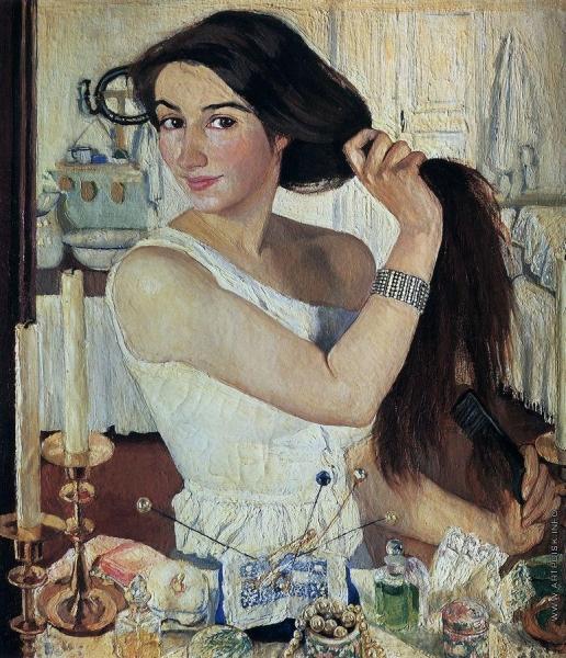 Серебрякова З. Е. За туалетом. Автопортрет