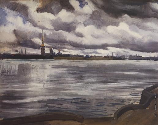 Серебрякова З. Е. Вид на Петропавловскую крепость