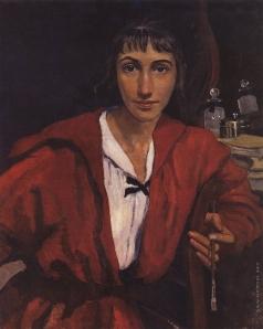 Серебрякова З. Е. Автопортрет в красном