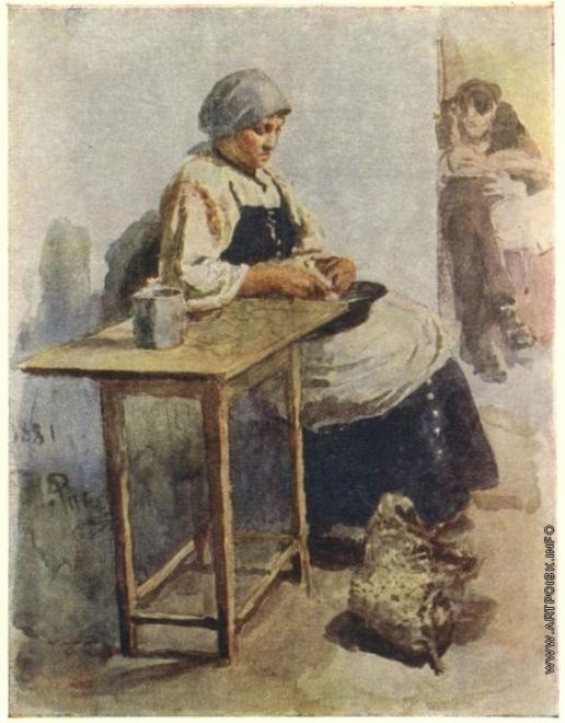 Репин И. Е. Кухарка