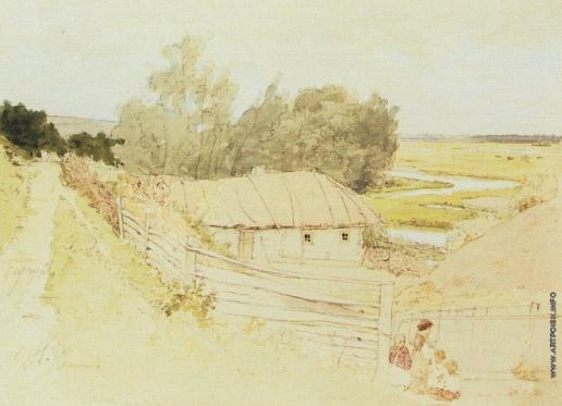 Репин И. Е. Деревня Мохначи близ Чугуева