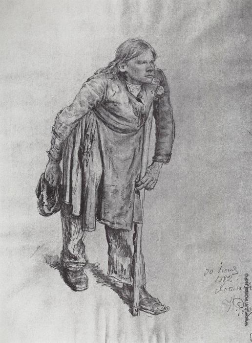 Репин И. Е. Л.Н.Толстой за работой у круглого стола.