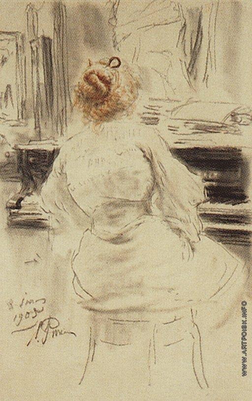 Репин И. Е. За роялем.