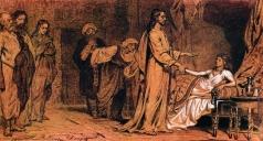 Репин И. Е. Воскрешение дочери Иаира.