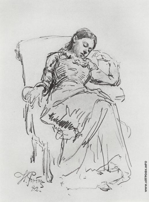 Репин И. Е. Отдых. Зарисовка к одноимённой картине