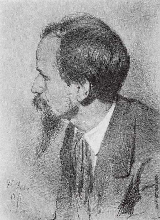 Репин И. Е. Портрет П.П.Чистякова.