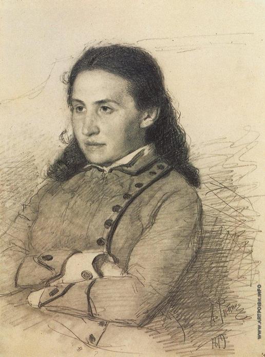 Репин И. Е. Портрет Е.Г.Мамонтовой.
