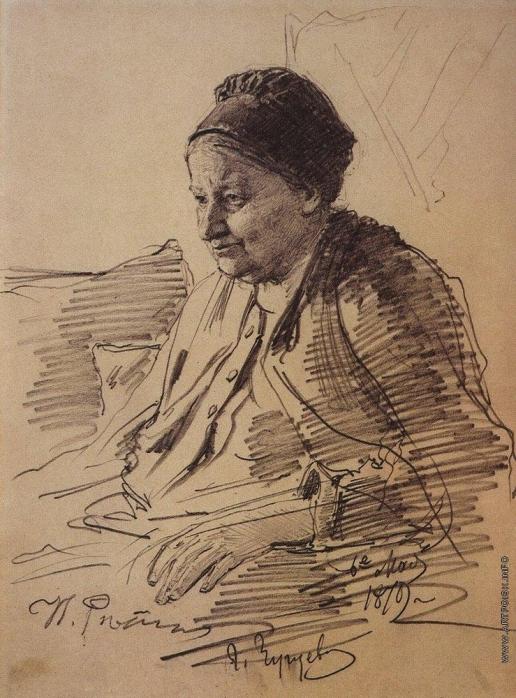 Репин И. Е. Портрет Т.С.Репиной, матери художника.