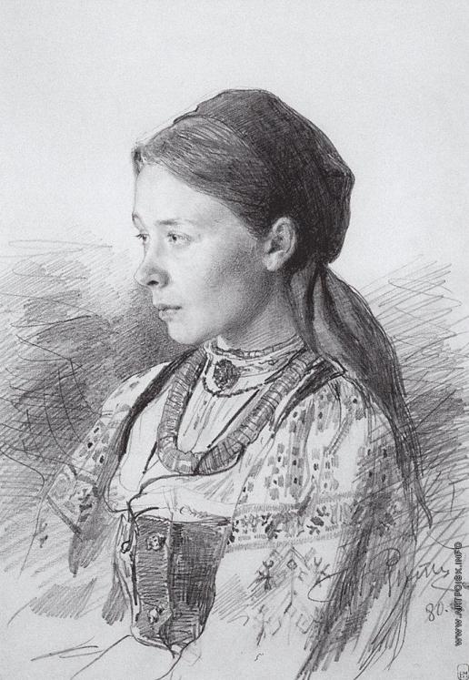 Репин И. Е. Портрет М.И.Арцыбушевой.