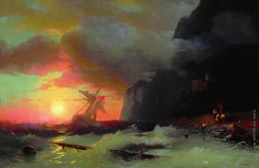 Айвазовский И. К. Кораблекрушение у Афонской горы