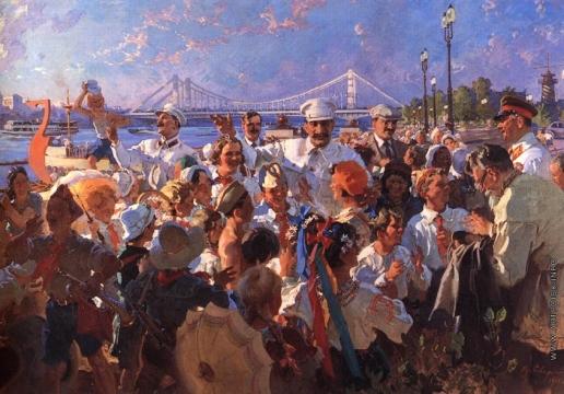 Сварог В. С. И.В. Сталин и члены Политбюро среди детей в ЦПКиО им. М. Горького