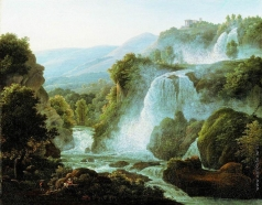 Матвеев Ф. М. Водопад в Тиволи