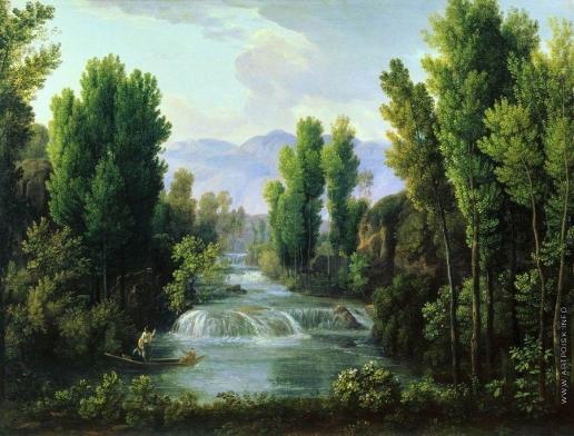 Матвеев Ф. М. Пейзаж с водопадом