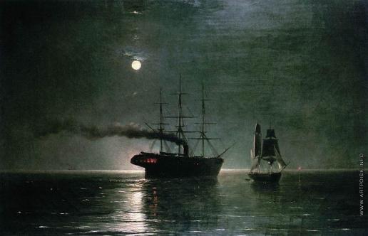 Айвазовский И. К. Корабли в ночной тишине