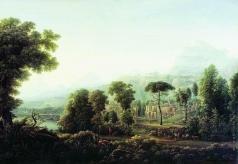 Матвеев Ф. М. Вид Сицилии. Горы.