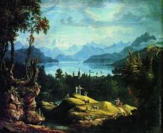 Матвеев Ф. М. Пейзаж в Швейцарии