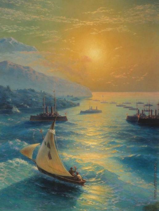 Айвазовский И. К. Корабли на Феодосийском рейде. Чествование Айвазовского по случаю его 80-летия