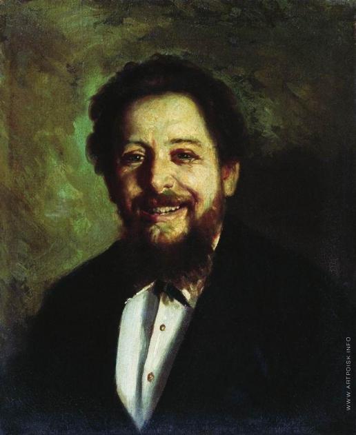Неврев Н. В. Портрет смеющегося мужчины