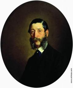 Неврев Н. В. Портрет неизвестного пожилого мужчины