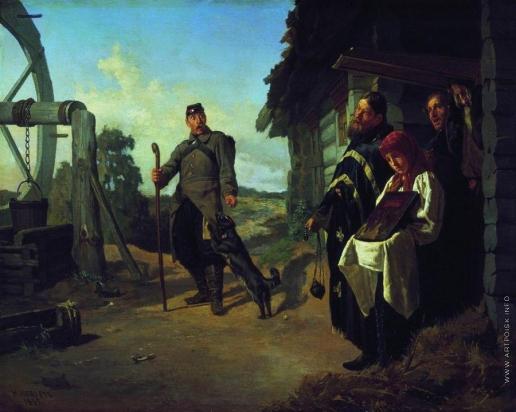 Неврев Н. В. Возвращение солдата на родину
