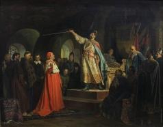 Неврев Н. В. Роман Галицкий принимает послов папы Иннокентия III