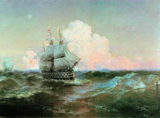 Айвазовский И. К. Корабль «Двенадцать апостолов»