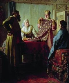 Неврев Н. В. Бытовая сцена XVII века (Купец и товар)