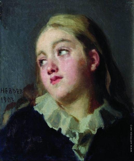 Неврев Н. В. Портрет дочери