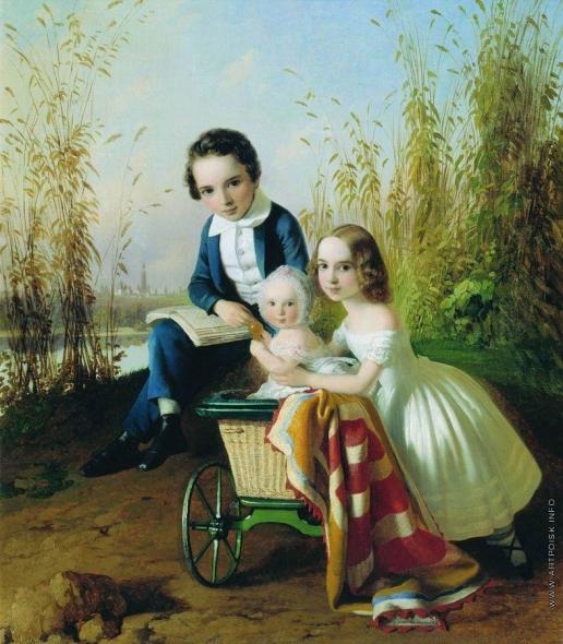 Нефф Т. А. Портрет детей Олсуфьевых