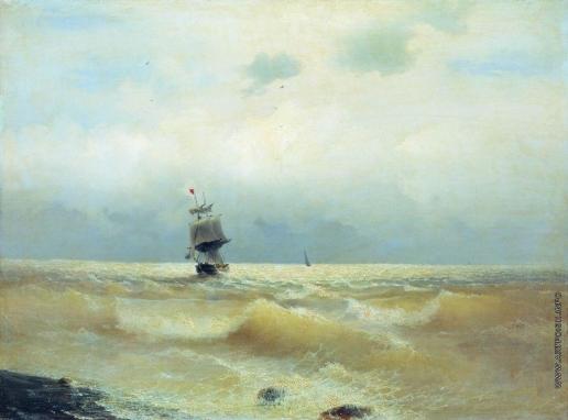 Айвазовский И. К. Корабль у берега