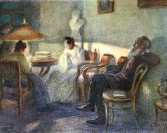 Пастернак Л. О. Л.Н. Толстой с семьей