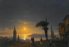 Айвазовский И. К. Башня в Галате в лунную ночь