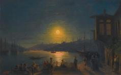 Айвазовский И. К. Восход луны над бухтой Золотой Рог