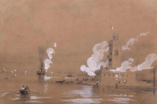 Айвазовский И. К. Крепость у моря