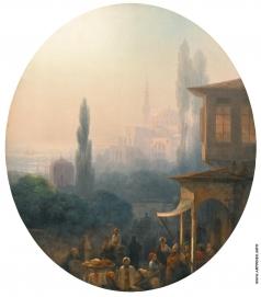 Айвазовский И. К. Сценка на базаре в Константинополе.