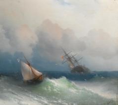 Айвазовский И. К. Два корабля в море