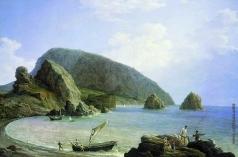 Чернецов Н. Г. Вид на Аю-Даг в Крыму со стороны моря