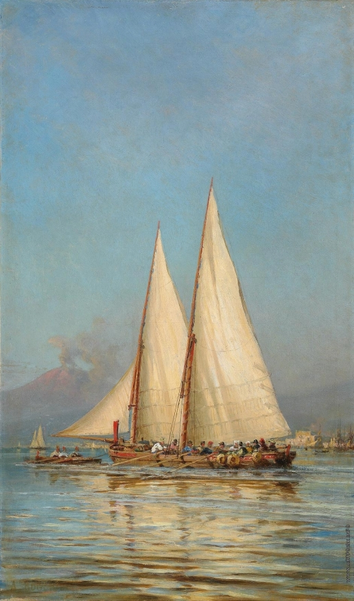 Боголюбов А. П. Плывущая лодка. Неаполь