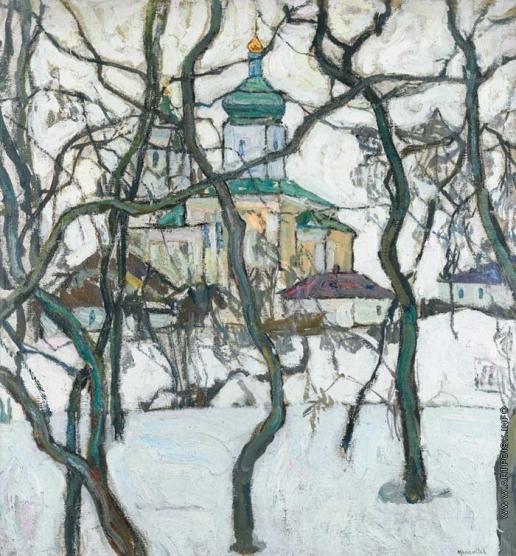 Маневич А. А. Зимний пейзаж с церковью